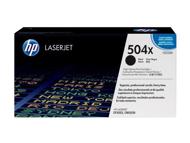 HP CE250X Color LaserJet Print Cartridge Black