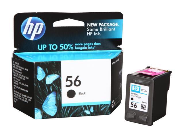 HP 56 (C6656AN#140) Ink Cartridge 520 Page Yield; Black
