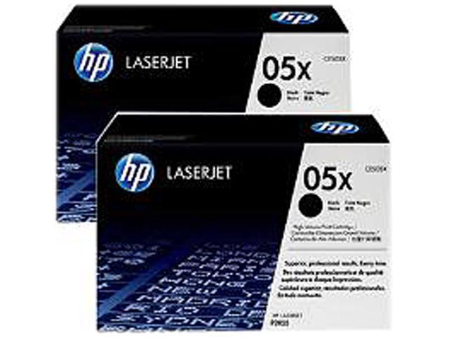 HP 05X Black High Yield 2-Pack LaserJet Toner Cartridges (CE505XD)