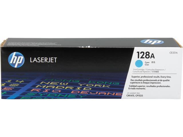 HP 128A Cyan LaserJet Toner Cartridge (CE321A)