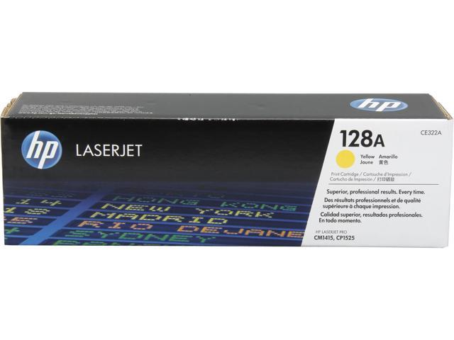 HP 128A Yellow LaserJet Toner Cartridge (CE322A)