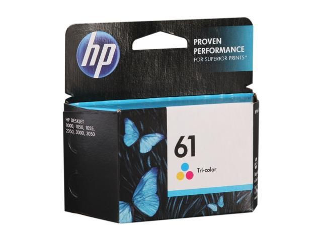 HP 61 (CH562WN#140) Ink Cartridge 165 Page Yield; Tri-Color (Cyan / Magenta / Yellow)