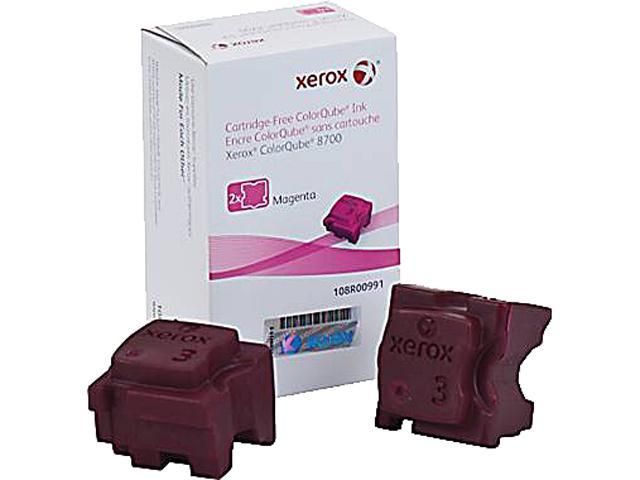 XEROX 108R00991 Colorqube Ink Magenta, Colorqube 8700 (2 Sticks)