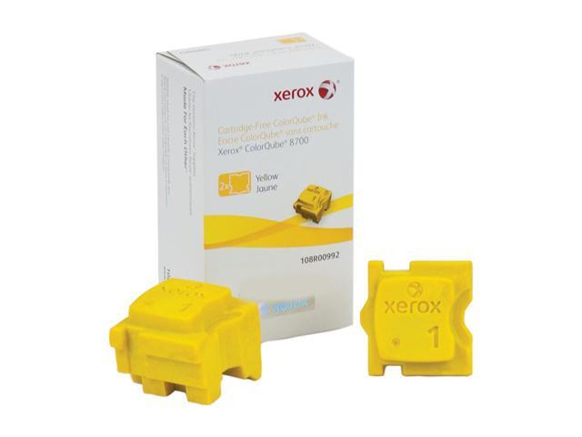 XEROX 108R00992 Colorqube Ink Yellow, Colorqube 8700 (2 Sticks)