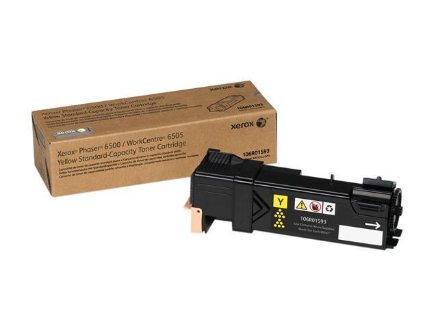 XEROX 106R01593 Standard Capacity Toner Cartridge Yellow For Phaser 6500/WorkCentre 6505