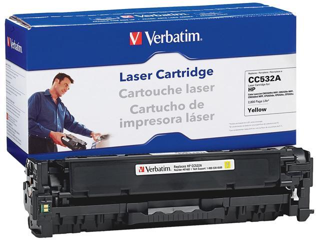 Verbatim Remanufactured Toner Cartridge Replacement for HP CC532A, Yellow