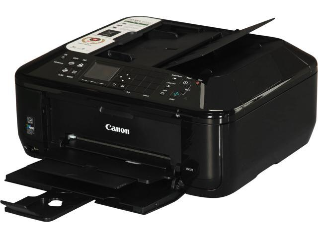 Canon PIXMA MX522 ESAT: 9.7 ipm Black Print Speed 4800 x 1200 dpi Color Print Quality Apple AirPrint Google Cloud Print InkJet MFC / All-In-One Color Office Inkjet Printers