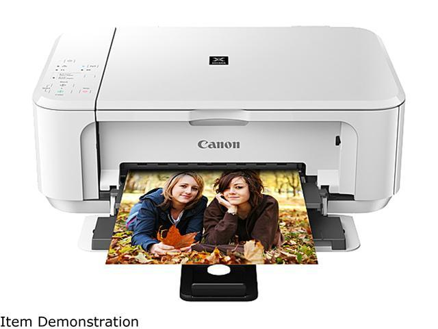 Canon PIXMA MG3520 Wireless Photo All-in-One Inkjet Printer, White