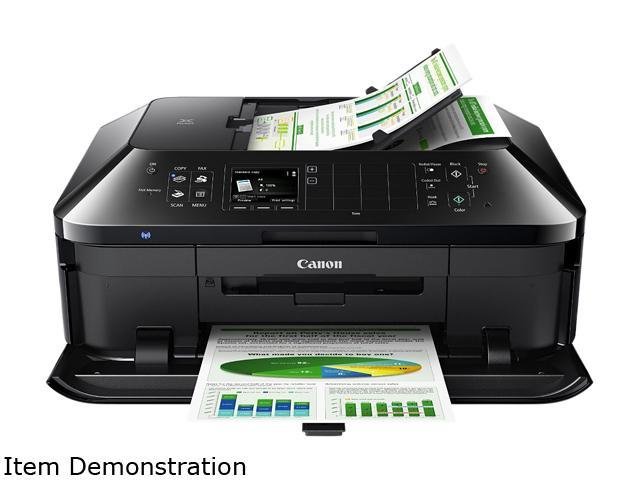 Canon PIXMA MX922 ESAT: 15.0 ipm Black Print Speed 9600 x 2400 dpi Color Print Quality InkJet Monochrome Wireless All-In-One Inkjet Printer
