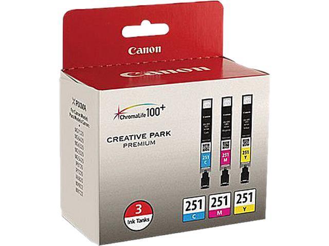 Canon CLI-251 3-Pack Ink tank&#59; Cyan, Magenta, Yellow (6514B009)