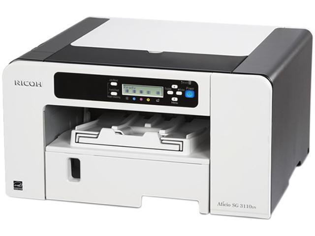 RICOH Aficio SG series 3110DN Up to 29 ppm Black Print Speed 3600 x 1200 dpi Color Print Quality Piezo Inkjet System Workgroup Color Printer