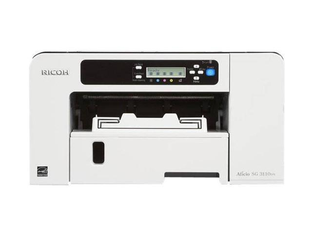 RICOH Aficio SG series 3110DNw Up to 29 ppm Black Print Speed IEEE 802.11b/g/n Wireless Piezo Inkjet System Workgroup Color ...