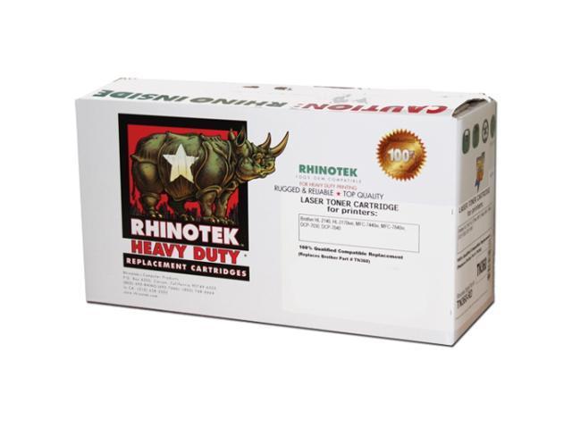 Rhinotek TN360-RD (OEM# Brother TN-360, TN-330, TN360, TN330) single pack, Black, Page Yield 2600