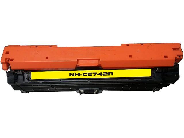 Rosewill RTCS-CE742A Yellow Toner Cartridge Replace HP CE742A, 307A Yellow