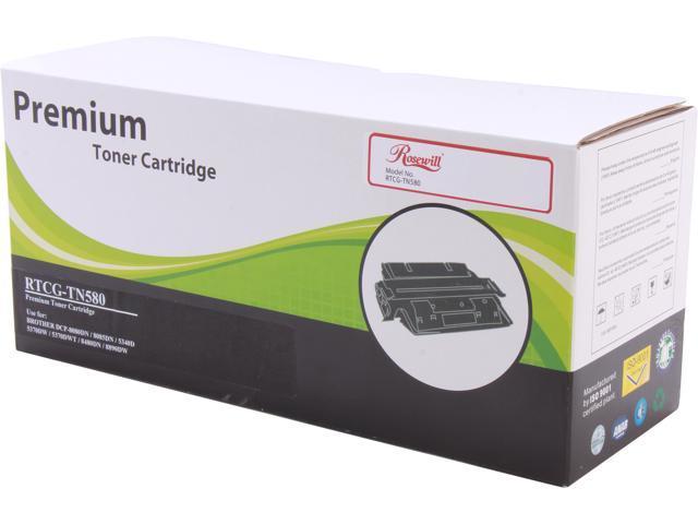 Rosewill RTCG-TN580 High Yield Black Toner Replaces Brother TN-580 TN580 TN-550 TN550