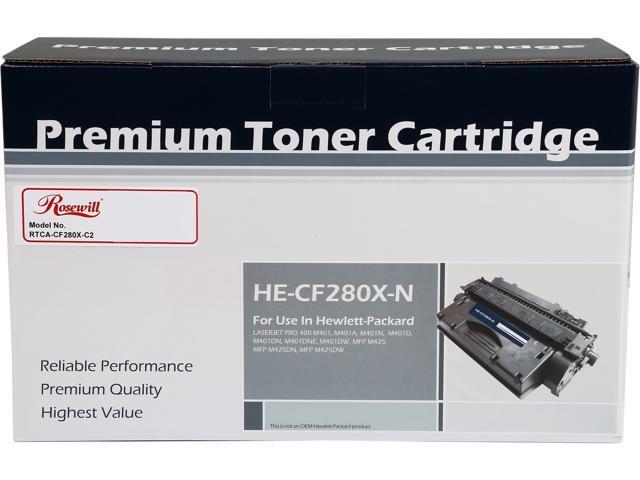 Rosewill RTCA-CF280X-C2 Compatble Toner Cartridge Replaces HP CF280X(80X) Toner Cartridge; Black