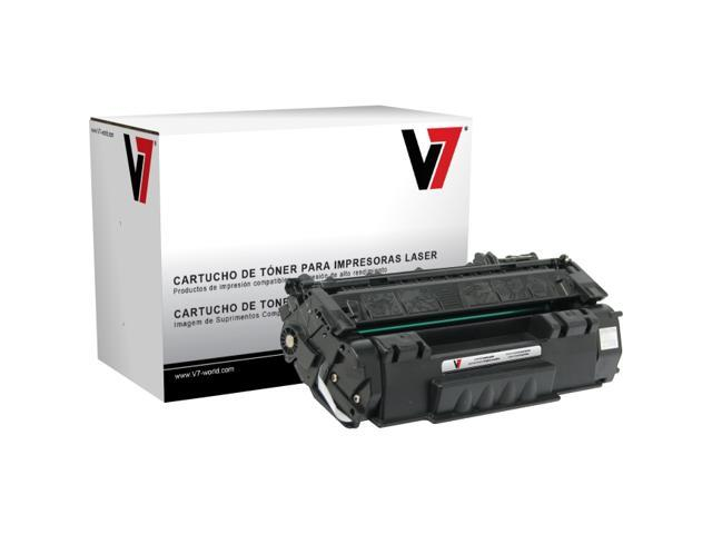 V7 V749AG Black LaserJet Replacement Toner Cartridge with Smart Chip for HP Q5949A