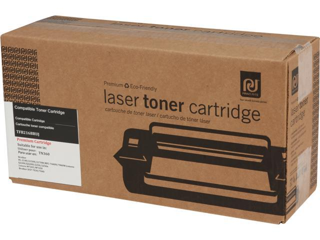 Print-Rite TFB216BRUJ High Capacity Black Toner Cartridge Replacement for Brother TN360
