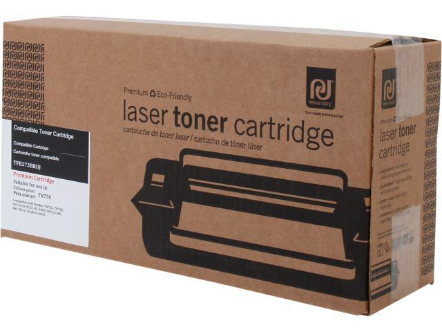 Print-Rite TFB273BRUJ Black Toner Cartridge Replacement for Brother  TN750