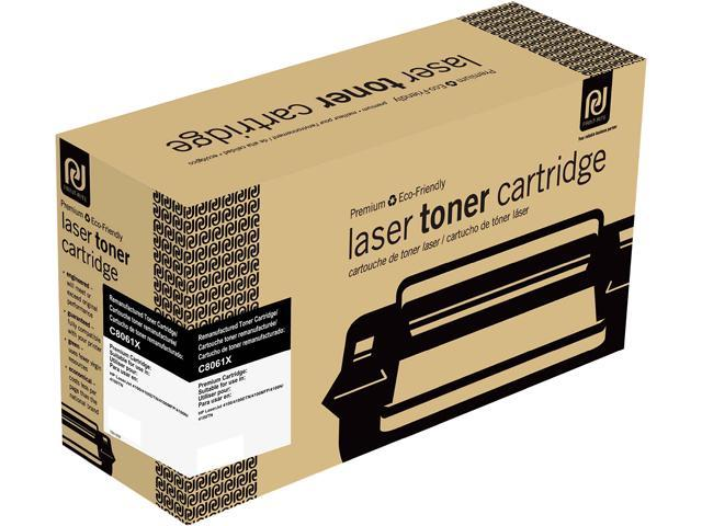 Print-Rite TRH185BRUJ Black Toner Cartridge Replacment for HP C8061X