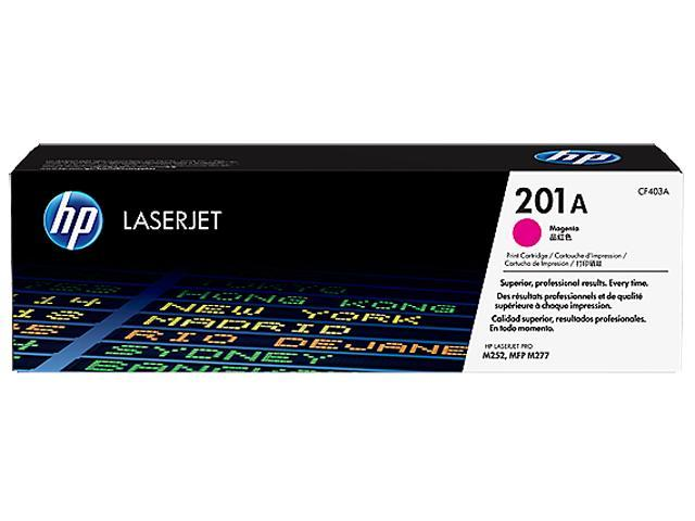HP 201A (CF403A) Toner Cartridge 1,400 Page Yield; Magenta