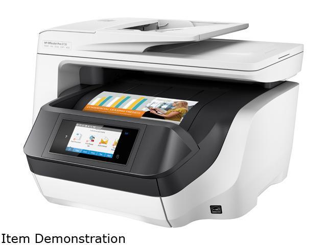 HP OfficeJet Pro 8730 (D9L20A#B1H) Duplex 2400 dpi x 1200 dpi wireless/USB color Inkjet MFC Printer