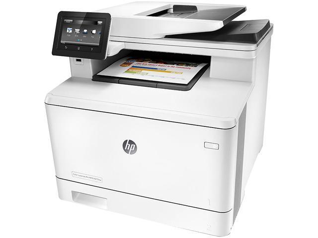 HP FACTORY RECERTIFIED COLOR LASERJET PRO M477FNW MFP 28/28PPM 600X600DPI 300-SHEET 256MB E-PRINT/GBE/USB/WIFI COLOR PRINTER/COPIER/SCANNER/FAX SAME-AS-NEW/1YR-WARRANTY