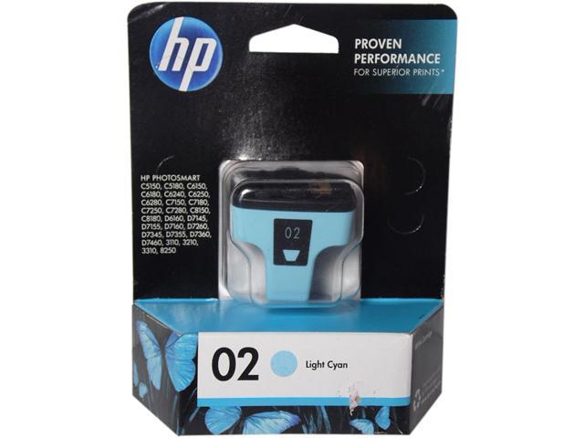 HP 02 (C8774WN#140) Ink Cartridge 220 Photo Pages Yield; Light cyan
