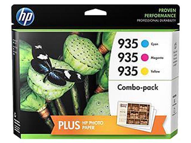 HP 935 (N9H65FN#140) Ink Cartridge 1,200 Page Yield; Cyan/Magenta/Yellow