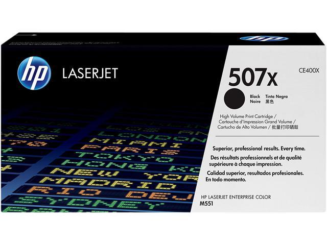 HP 507X Black High Yield LaserJet Toner Cartridge (CE400X)