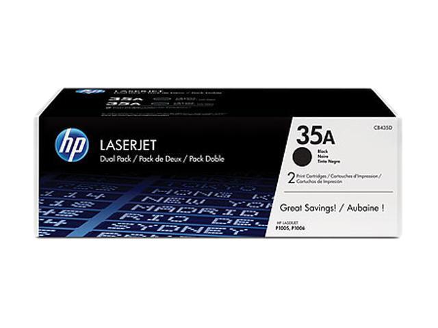 HP 35A (CB435D) 35A Dual Pack LaserJet Toner Cartridges Black