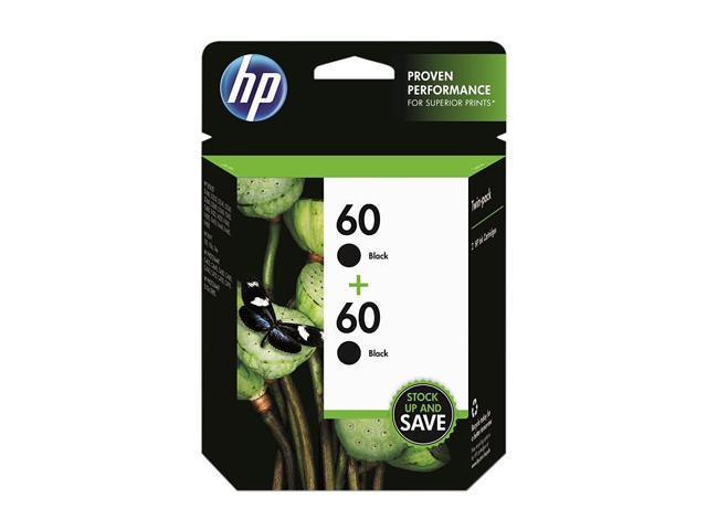HP 60 Black Twin Pack Ink Cartridges(CZ071FN#140)