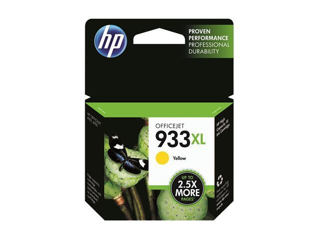HP 933XL High Yield Yellow Ink Cartridge (CN056AN)