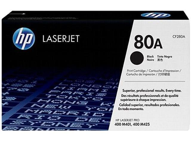 HP 80A (CF280A) Original LaserJet Toner Cartridge 2,700 Pages Yield; Black