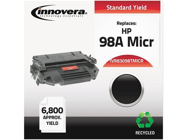Innovera IVR83098TMICR Black Remanufactured 92298A (98A MICR) MICR Toner