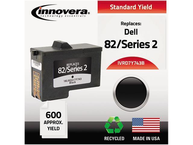 Innovera D7Y743B Compatible Remanufactured 7Y743 (Series 2) Ink Black