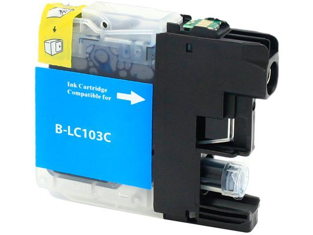 Green Project B-LC103C Cyan Ink Cartridge Replaces Brother LC103C