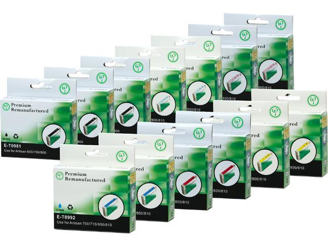 Green Project E-T0981(13)PK Black and Colors Ink Cartridge