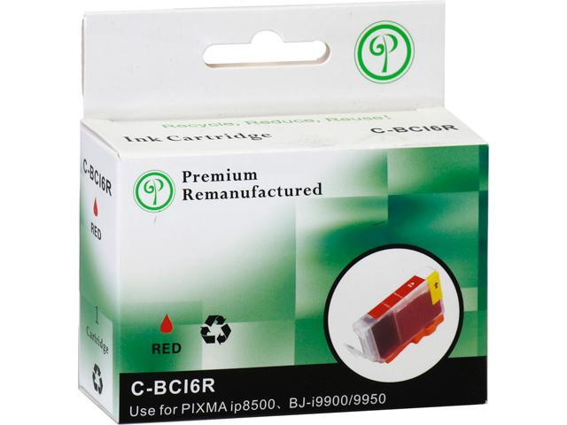 Green Project C-BCI6RR Reman Inkjet Canon BCI 6 Red