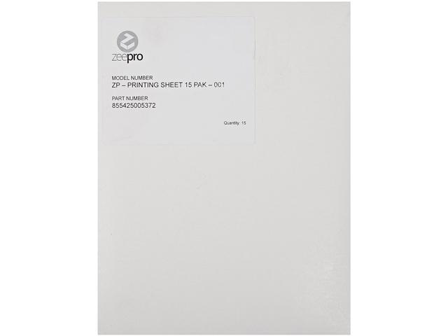 Zeepro ZP-PRINTING SHEET 15 PAK-001 Printing sheet Accessory