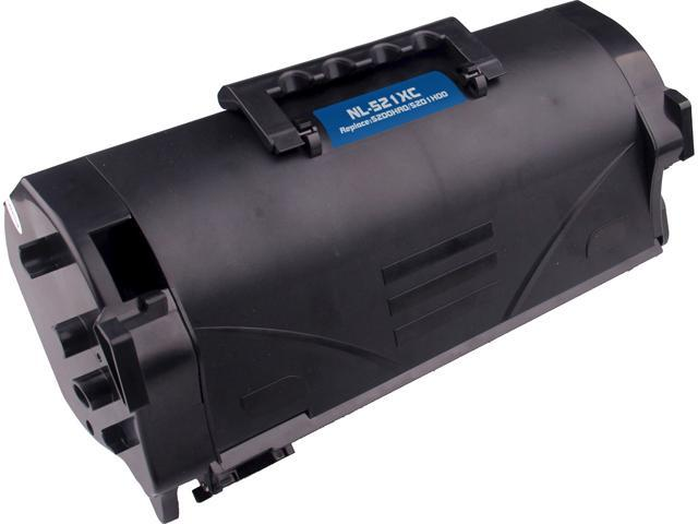 G & G NT-PL521XC High Yield Black Laser Toner Cartridge Replaces Lexmark 52D1H00