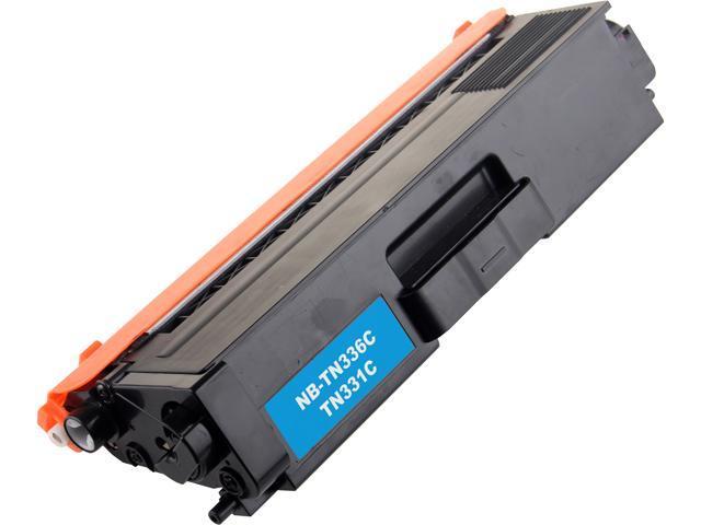 G&G NB-TN336C Cyan Laser Toner Cartridge Replaces Brother TN336C