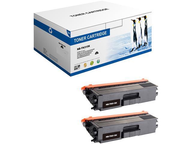 G & G 2PK NT-C0315 BK Black Laser Toner Cartridge Replaces Brother TN315