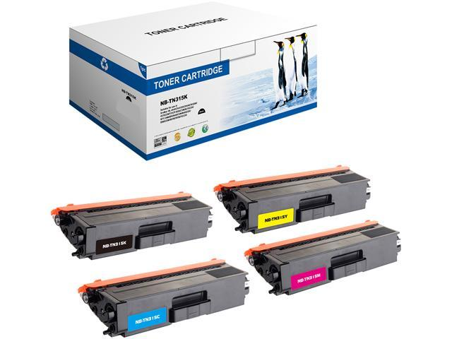 G & G TN315 Set of 4 NT-C0315 Laser Toner Cartridge: 1 Black & 1 Each of Cyan / Magenta / Yellow Replaces Brother TN315