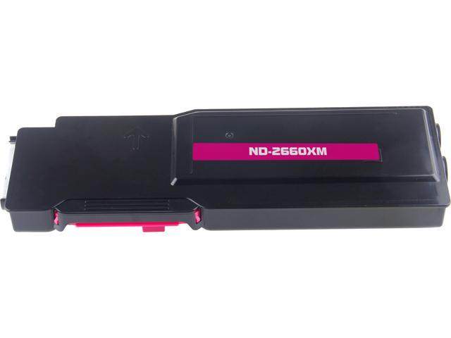 G & G ND-2660XM Magenta Laser Toner Cartridge Replaces DELL 593-BBBS / V4TG6 / VXCWKC for use in the 2660dn, C2665dnf Printers