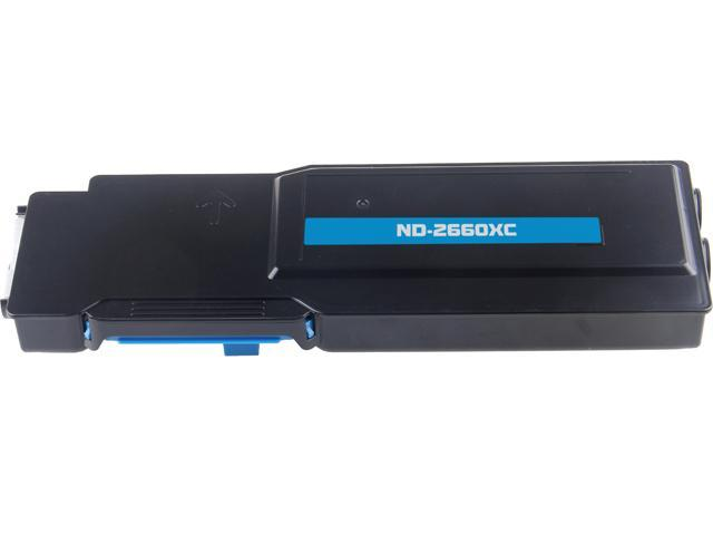 G & G ND-2660XC Cyan Laser Toner Cartridge Replaces DELL 593-BBBT / TW3NN / 488NHC for use in the 2660dn, C2665dnf Printers