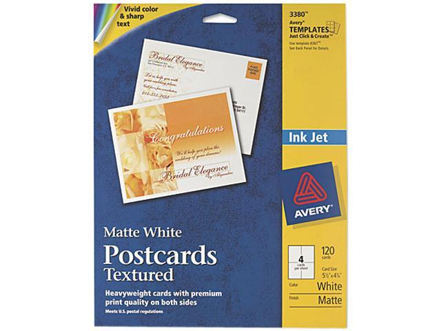 Avery 3380 Personal Creations Printable Textured Postcards, Heavy, 4-1/4 x 5-1/2, 120/Box