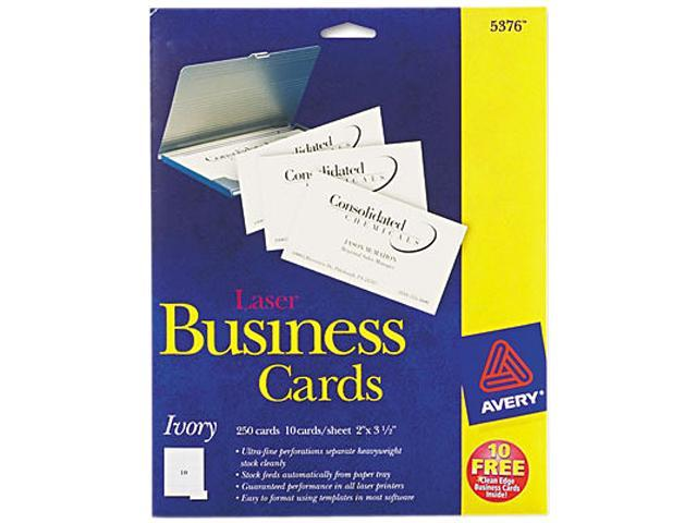 Printable Microperf Business Cards Laser 2 x 3 1/2 Ivory Uncoated 250/Pack