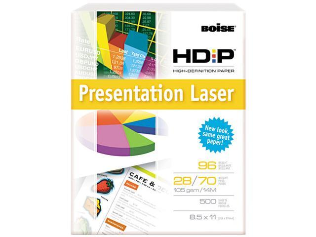 Boise BPL-0211 HD:P Presentation Laser Paper, 96 Brightness, 28lb, 8-1/2x11, White, 500/Ream