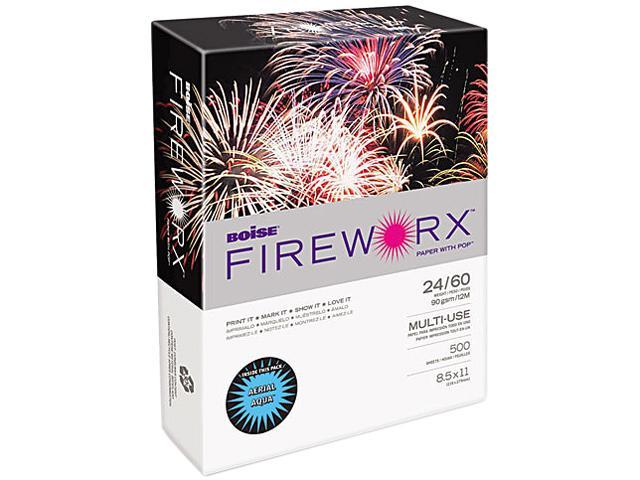 Boise MP2241-AA FIREWORX Colored Paper, 24lb, 8-1/2 x 11, Aerial Aqua, 500 Sheets/Ream